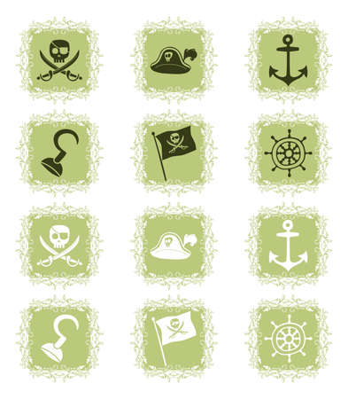 cartoon pirate icon Stock Vector - 20483182