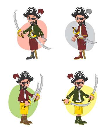 cartoon pirate set Stock Vector - 20478344