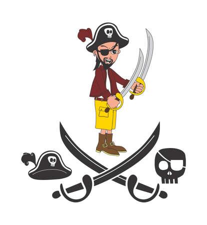 cartoon pirate sword Stock Vector - 20477567