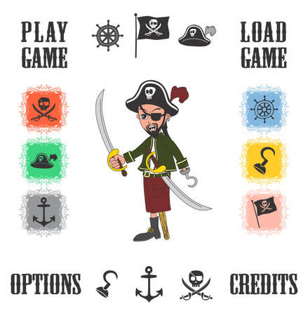 cartoon pirate game Stock Vector - 20476871