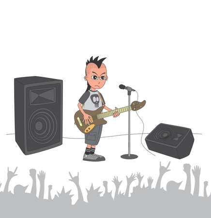 live stage band bassist Vector