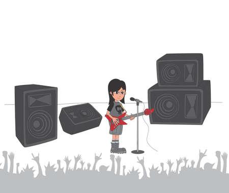 rock guitarist: live stage band rock guitarist