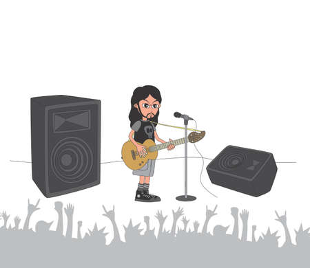live stage band guitarist Vector
