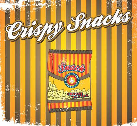 fast food art vintage snack Vector