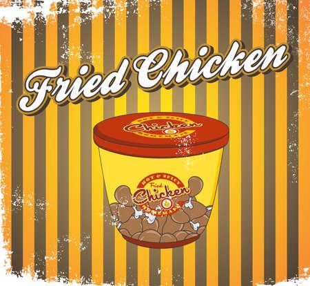 fast food art vintage bucket chicken