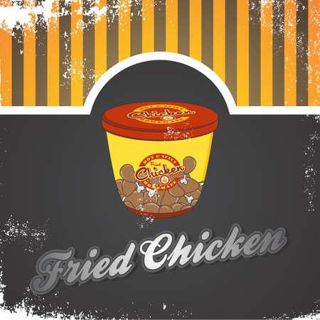 fast food art vintage color Vector