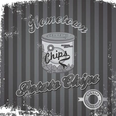 fast food art vintage grey Vector