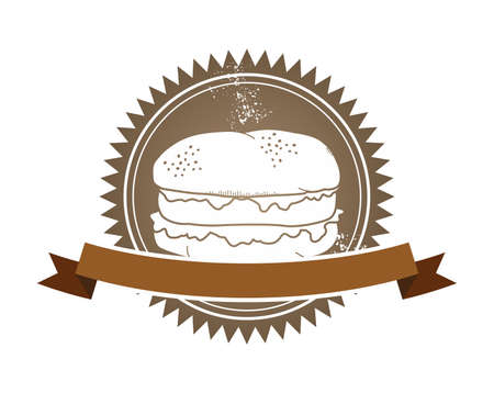 fast food art retro burger Vector