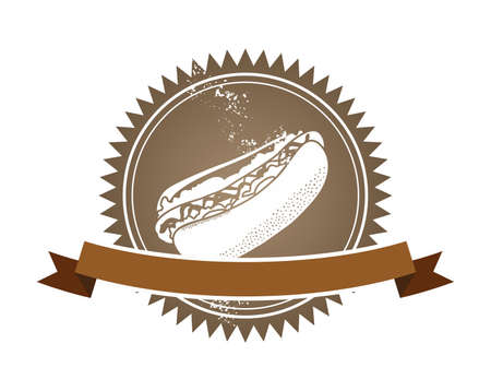 fast food art retro hot dog Vector
