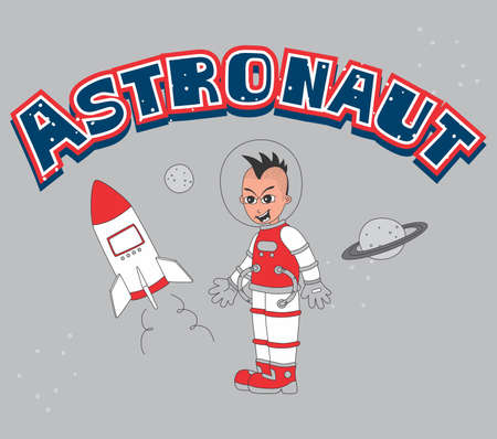 astronaut set laugh Stock Vector - 20558631