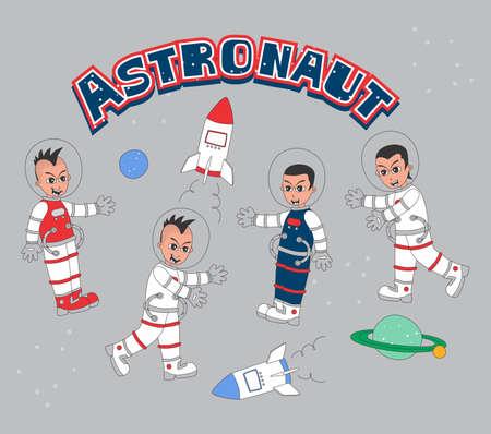 astronaut set Stock Vector - 20558658