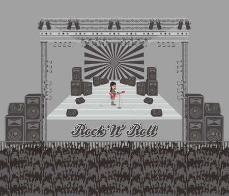 concert performance: live band single Illustration