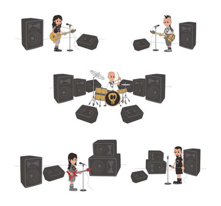 live band set Stock Vector - 20558683