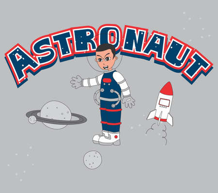 astronaut blue Vector