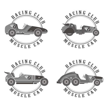 old car badge Vector
