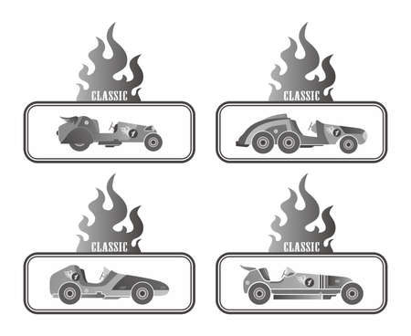 old car box badge Vector