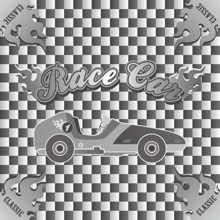 old car vintage art Vector
