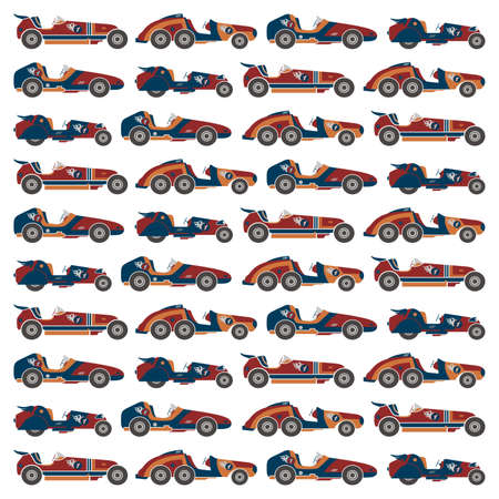 car racing art pattern Vector