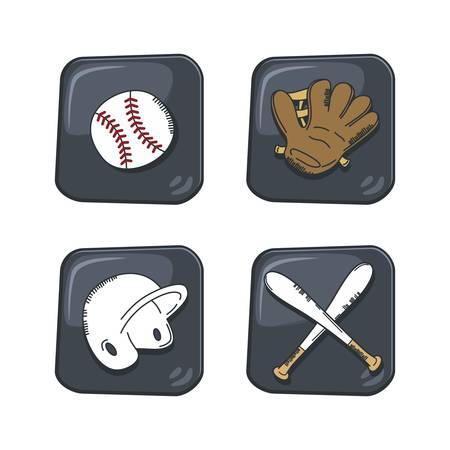 baseball button Stock Vector - 20558612