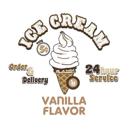 アイス クリーム バニラ