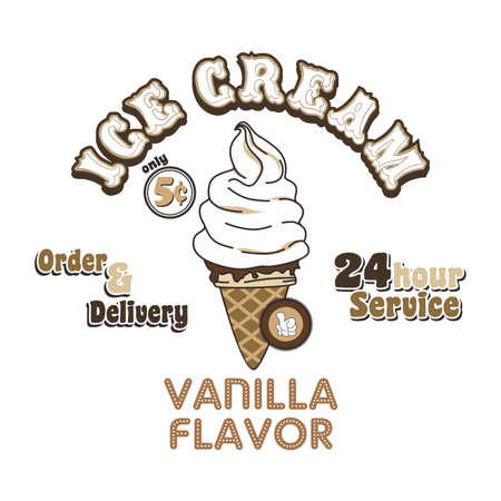 ice cream vanilla Vector