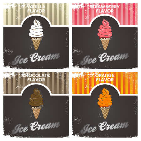ice cream vintage Vector