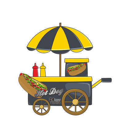 booth hot dog