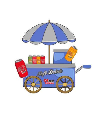 booth soft drink Stock Illustratie