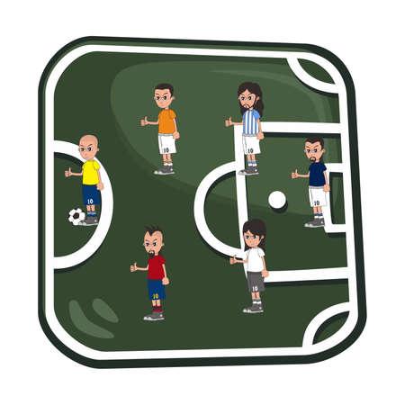 soccer art button all player Vector