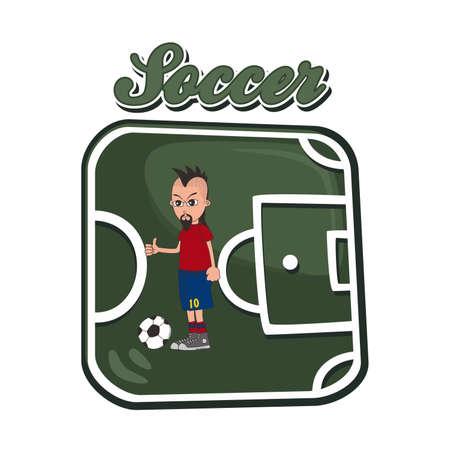 soccer art spain Vector
