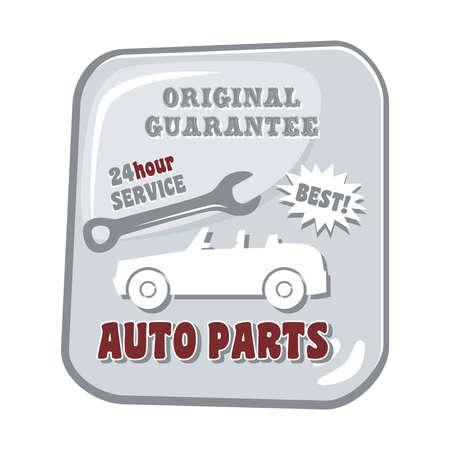 auto parts car Vector