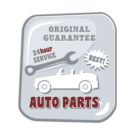 auto parts: auto parts car Illustration