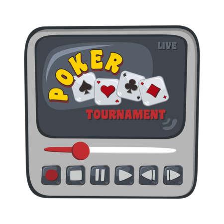 media show poker Vector
