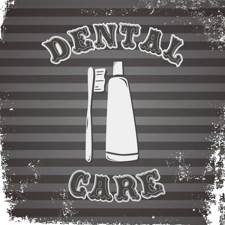 dental icon brush toothpaste Vector
