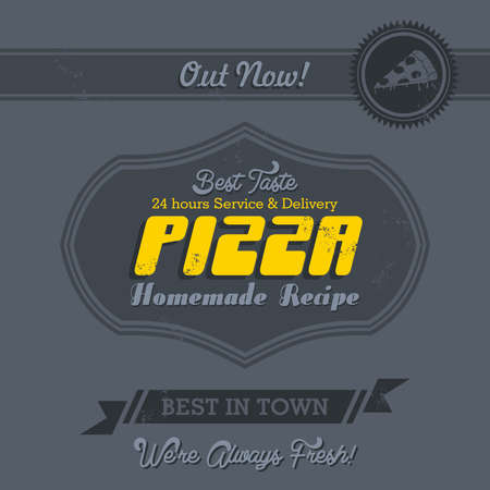 commercial page pizza Vector