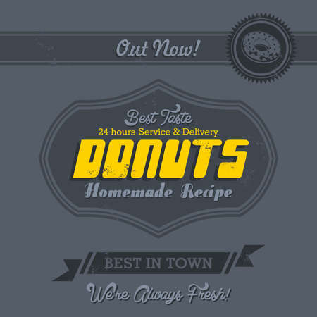 commercial page donut Vector