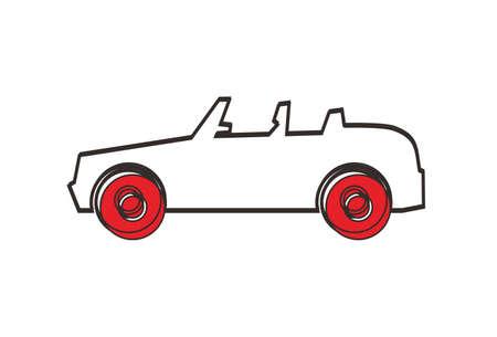 convertible car: coche descapotable