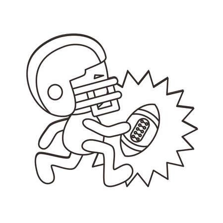 outline football boy Vector