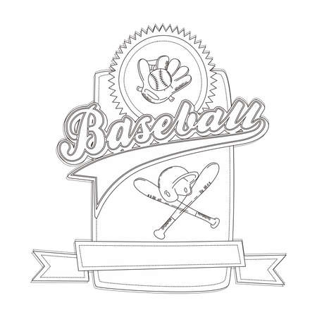 vintage template baseball Vector
