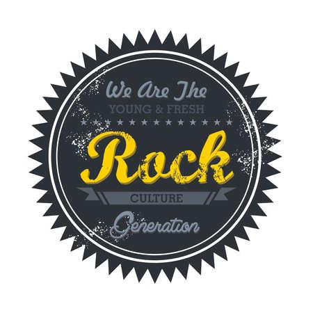 token: music genre token rock Illustration