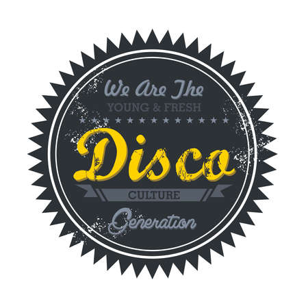 music genre token disco Stock Vector - 20570493