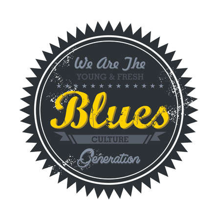 music genre token blues Stock Vector - 20570490