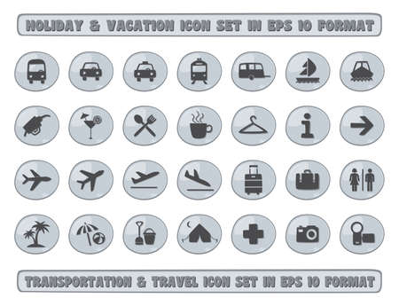 recreation rooms: holiday travel icon Illustration