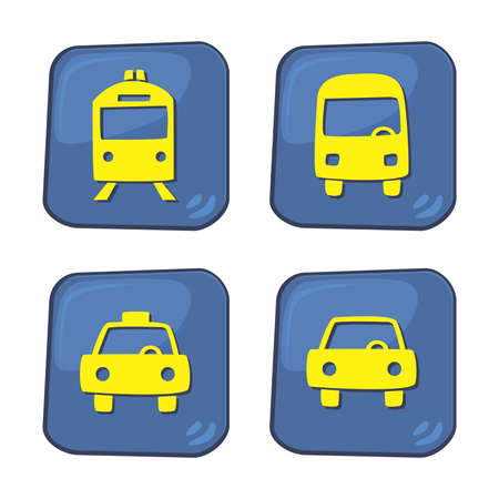 travel icon vehicle Vector