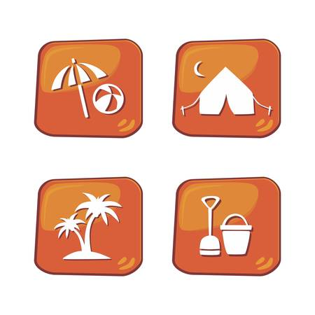 travel icon outdoor Vector