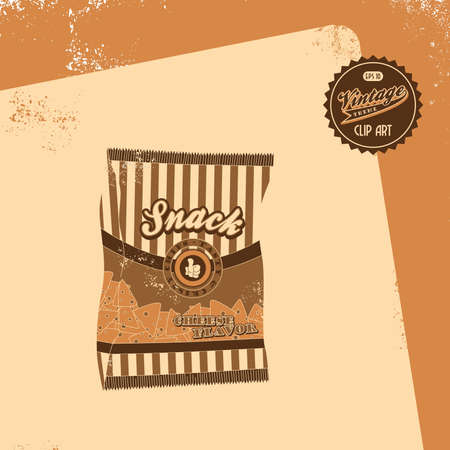 vintage brown snacks Vector