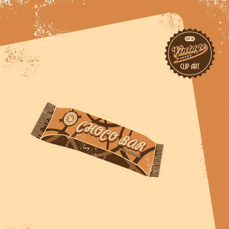 vintage brown candy Vector