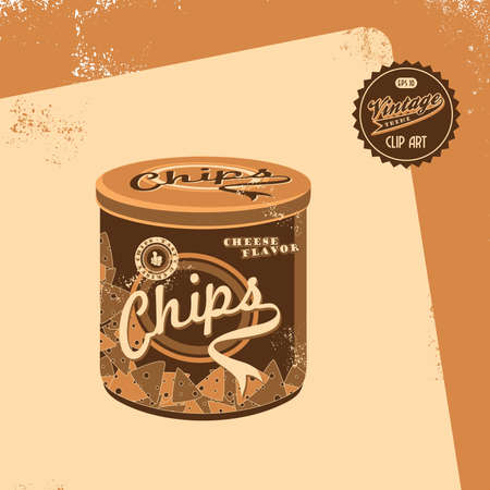 vintage brown chips Vector