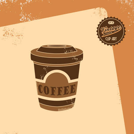 vintage brown coffee Vector