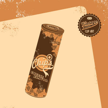 vintage brown old chips Vector